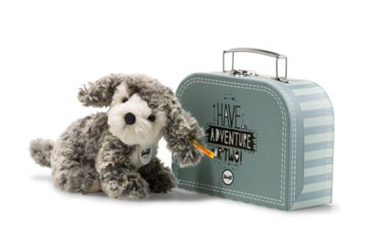 Steiff Matty Dog in Suitcase