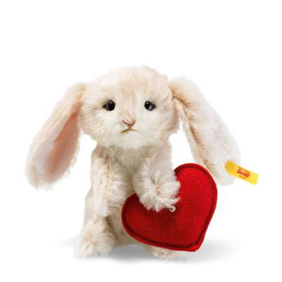 Steiff Rabbit with Heart Swarovski