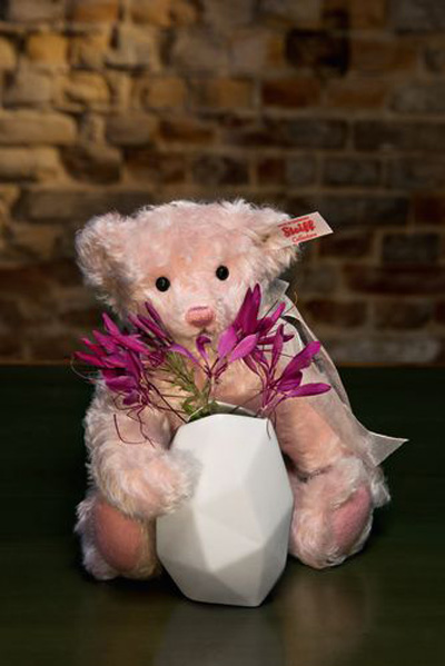 Rose Teddy Bear with Vase