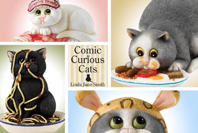 Comic and Curious Cats Down the Pan Clock