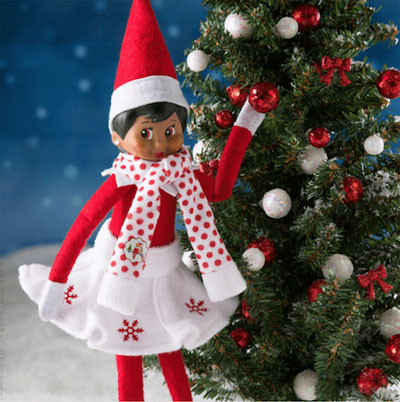 Official Elf On The Shelf Snowflake Skirt & Scarf