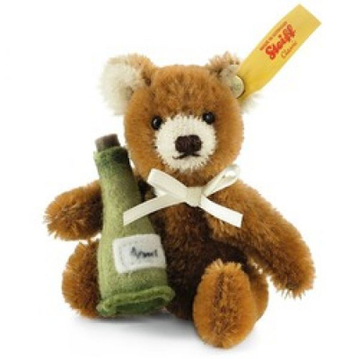 Steiff Mini Teddy Bear Champagne Bottle
