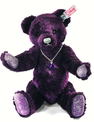 Steiff Amethyst Teddy Bear Swarvoski Button Teddy Bears Uk