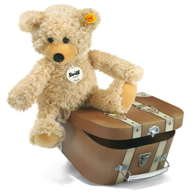 Steiff Charly Teddy Bear in Suitcase Plush