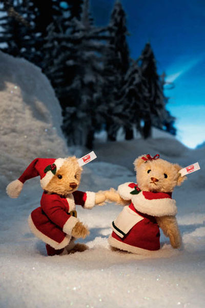 Steiff Mr and Mrs Claus Teddy Bear