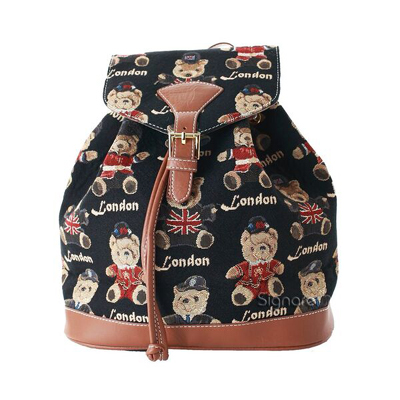 Teddy London Bear Tapestry Rucksack