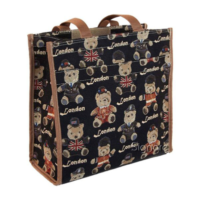 Teddy London Bear Tapestry Shopper