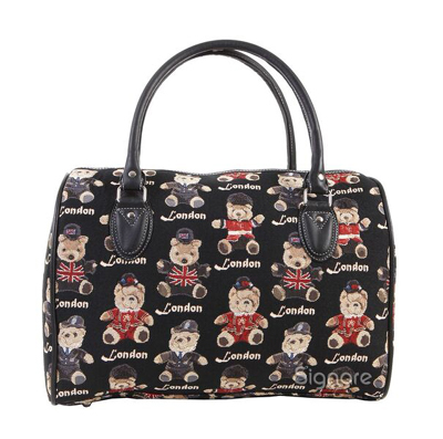 Teddy London Bear Tapestry Travel