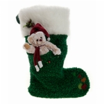 Charlie Bears Christmas Tree Green Sock