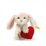 SALE Steiff Rabbit with Heart Swarovski