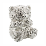 Teddy Bear Crystal Trinket Box
