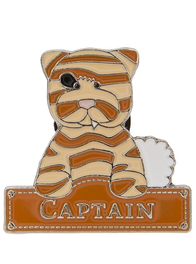 Alice's Bear Shop Pin Badge Captain