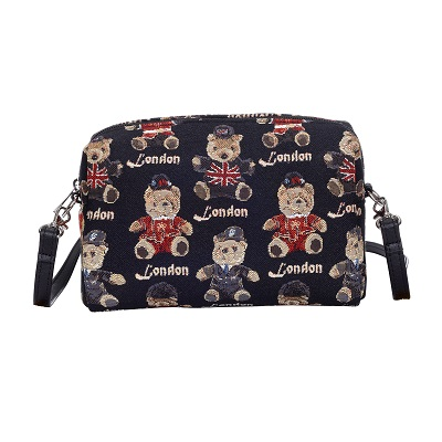Teddy London Bear Tapestry Hip Bag